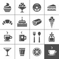 Cafe and confectionery icons Royalty Free Stock Photo