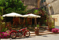 Cafe in Corfu island Stock Image