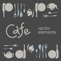 Cafe corporate style. Vector elements Royalty Free Stock Photo