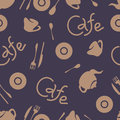 Cafe corporate style. Vector elements. Seamless pattern. Royalty Free Stock Photo