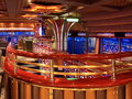Cafe on the cruise ship Stock Images