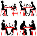 Cafe customers Royalty Free Stock Images