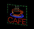 Cafe light emitting diode sign Stock Images