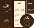 Cafe menu corporate identity for the business cards and coasters Royalty Free Stock Photography