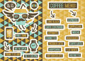 Cafe menu seamless backgrounds and design elements vector illustration Royalty Free Stock Photography
