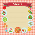 Cafe or restaurant menu template design some blank space for your text included Royalty Free Stock Photo