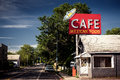 Cafe sign along historic Route 66 Royalty Free Stock Photo