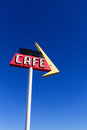 Cafe Sign on Route 66 Stock Image