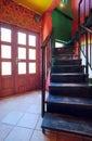 Cafe stairways Royalty Free Stock Photo