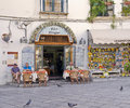 Cafe and Store, Ravello, Italy Royalty Free Stock Photography