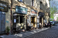 Cafe on the streets of kazimierz district in kraków poland Royalty Free Stock Image
