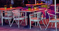 Cafe with table and chairs Royalty Free Stock Photos