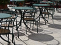 Cafe tables and chaires french style Royalty Free Stock Photo