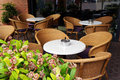 Cafe Tables And Chairs On Stre...