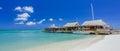 Cafe on tropical beach at Aruba Royalty Free Stock Photo