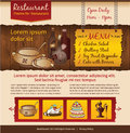 Cafe website template design vintage style Stock Photo