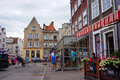 Cafes and restaurants gdansk poland july people by in the city center Stock Image
