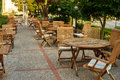 Cafes on the summer terrace Royalty Free Stock Photo