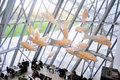 The cafeteria of the modern art museum of the Louis Vuitton Foun Royalty Free Stock Photo