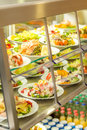Cafeteria self service display food fresh salad Royalty Free Stock Photography