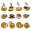 Caffè. Elementi per il disegno. Immagine Stock