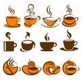 Caffè. Elementi per il disegno. Immagini Stock Libere da Diritti