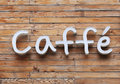 Caffe Sign Royalty Free Stock Photo