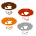 Caffee set design icons on a white background vector illustration Royalty Free Stock Image