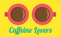 Caffeine lovers concept vector illustration Royalty Free Stock Image
