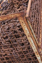 Cage with scrap iron Stock Images