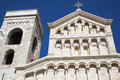 Cagliari cathedral santa cecilia in sardinia italy Royalty Free Stock Photo