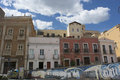 Cagliari city old quarter of the of Royalty Free Stock Photography