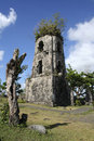 Cagsawa church ruins mayon volcano philippines Royalty Free Stock Image