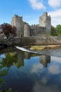 Cahir castle reflection reflected in the river tipperary county ireland Stock Image