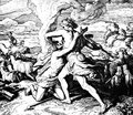 Cain Kills Abel Royalty Free Stock Photo