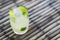 Caipirinha classic brazilian rum cocktail Royalty Free Stock Photo