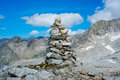 Cairn close to vedrette di ries valle aurina south tirol italy Royalty Free Stock Image