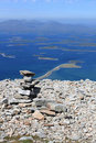 Cairn on Croagh Patrick Royalty Free Stock Photo