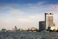 Cairo cityscape as seen from the nile river egypt africa Royalty Free Stock Image