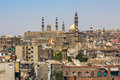 Cairo cityscape the view on the old with ancient minarets Stock Photography