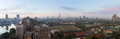 Cairo panoramic view of from the island of zamalek at dawn Stock Photos