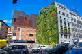 CaixaForum museum with famous green wall , Madrid Royalty Free Stock Photo