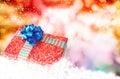 Caja del año nuevo holiday christmas gift Fotografía de archivo libre de regalías