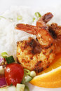 Cajun Prawns Royalty Free Stock Photography