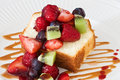 Cake with Berries Stock Images