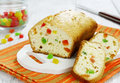 Cake with candied fruit Royalty Free Stock Photo