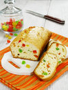 Cake with candied fruit Royalty Free Stock Image