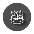 Cake with candle icon.