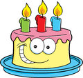 Cake with candles Royalty Free Stock Photo