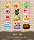 Cake card Stock Photography